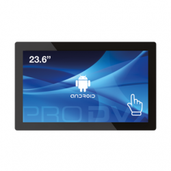"ProDVX APPC-24DSK 23.6"" Android Tablet PC/1920 x 1080/250 Ca/Cortex A17 1.6 GHz/2GB/8GB eMMC Flash/Android 6/RJ45 + WiFi/VESA/Black ProDVX Android Display APPC-24DSK 23.6 "", 250 cd/m²,  A17, 1.6 GHz, Quard Core.,  2GB DDR3 SDRAM, Wi-Fi, Touchscreen"