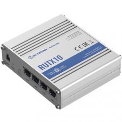 Teltonika Industrial Router  RUTX10 802.11ac, 867 Mbit/s, 10/100/1000 Mbit/s, Ethernet LAN (RJ-45) ports 4, 1, Bluetooth LE