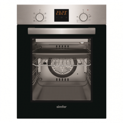 Simfer Oven 4207BERIM 47 L, Inox, Easy to clean, Pop-up knobs, Width 45 cm, Built in