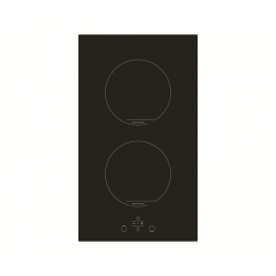 Simfer Hob H3.020.DEISP Induction, Number of burners/cooking zones 2, Touch control, Timer, Black