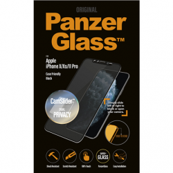 PanzerGlass P2667 Apple, iPhone iPhone X/Xs/11 Pro, Tempered glass, Black, Case friendly with CamSlider and Dual Privacy