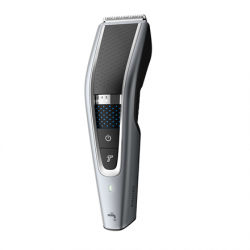 Philips Hairclipper series 5000 HC5630/15 Cordless or corded, Number of length steps 28, Step precise 1 mm, Black/Grey