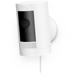 Ring 3rd Generation Stick Up Cam Plug-In 1080 pixels, White, Wi-Fi