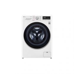 LG Washing machine with dryer F4DN408S0 Front loading, Washing capacity 8 kg, Drying capacity 5 kg, 1400 RPM, Direct drive, A, Depth 56 cm, Width 60 cm, White, Steam function, LED touch screen, Drying system, Display, Wi-Fi
