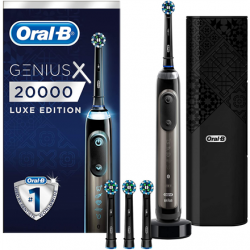 Oral-B Electric toothbrush Genius X Luxus Edition Rechargeable, For adults, Number of brush heads included 4, Number of teeth brushing modes 6, Anthracite Grey