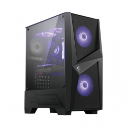 MSI MAG FORGE 100M PC Case, Mid-Tower, USB 3.2, Black
