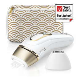 Braun Epilator PL 5137 IPL Hair Removal System, Bulb lifetime (flashes) 400000, Number of intensity levels 10, Number of speeds 3, White/Gold