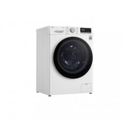 LG Washing machine F4DN409N0 Energy efficiency class D, Front loading, Washing capacity 9 kg, 1400 RPM, Depth 56 cm, Width 60 cm, Display, LED touch screen, Drying system, Drying capacity 5 kg, Direct drive, Wi-Fi, White