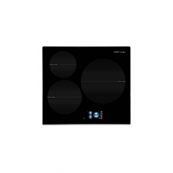 """CATA Hob IDB 6003 PRO BK Induction, Number of burners/cooking zones 3, 5"""" TFT touch control, Timer, Black, Display"""