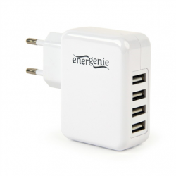 Gembird Universal USB charger EG-U4AC-02 White