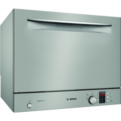 Bosch Dishwasher SKS62E38EU Free standing, Width 55 cm, Number of place settings 6, Number of programs 6, A+, Display, AquaStop function, Silver Inox