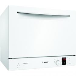 Bosch Dishwasher SKS62E32EU Table, Width 55 cm, Number of place settings 6, Number of programs 6, Energy efficiency class F, Display, AquaStop function, White