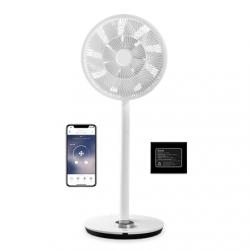 Duux Smart Fan Whisper Flex Smart Black with Battery Pack Stand Fan, Timer, Number of speeds 26, 2-22 W, Oscillation, Diameter 34 cm, White
