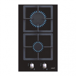 CATA Hob SCI 3002 BK Gas on glass, Number of burners/cooking zones 2, Mechanical, Black