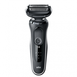 Braun Shaver 50-W1500s Cordless, Charging time 1 h, Lithium Ion, Number of shaver heads/blades 3, Black/White, Wet & Dry