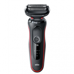 Braun Shaver 50-R1000s Cordless, Charging time 1 h, Lithium Ion, Number of shaver heads/blades 3, Black/Red, Wet & Dry