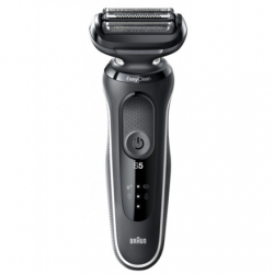 Braun Shaver 50-W1600s Cordless, Charging time 1 h, Lithium Ion, Number of shaver heads/blades 3, Black/White, Wet & Dry