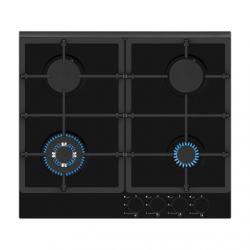 Simfer Hob H6 401 TGRSP Built-In Gas Hob, Number of burners/cooking zones 3 + 1 Wok Burner, Mechanical, Black