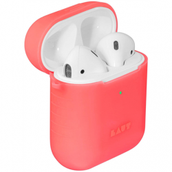 LAUT POD NEON for AirPods 1/2 Electric Coral, Charging Case, Apple AirPods 1/2