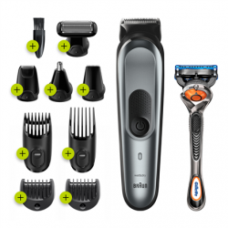 Braun Trimmer All-in-one MGK7221 Operating time (max) 100 min, Nose trimmer included, Lithium Ion, Number of shaver heads/blades 1, Black/Grey, Wet & Dry