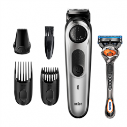 Braun Beard Trimmer BT5260 Operating time (max) 100 min, Lithium Ion, Number of shaver heads/blades 1, Black/Grey