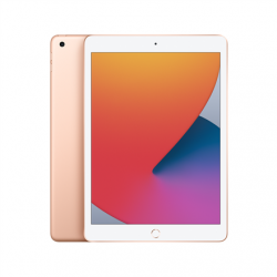 "Apple 8th Gen (2020) iPad Wi-Fi 10.2 "", Gold, Retina touch screen with IPS,  2160 x 1620, Apple A12 Bionic, 3 GB, 32 GB, Wi-Fi, Front camera, 1.2 MP, Rear camera, 8 MP, Bluetooth, 4.2, iPadOS"