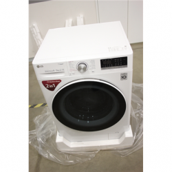 SALE OUT. LG Washing machine with dryer F4DN408S0 Energy efficiency class A, Front loading, Washing capacity 8 kg, 1400 RPM, Depth 56 cm, Width 60 cm, Display, LED touch screen, Drying system, Drying capacity 5 kg, Steam function, Direct drive, Wi-Fi, Whi