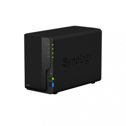 Synology Tower NAS DS218 up to 2 HDD/SSD Hot-Swap, Realtek RTD1296 Quad Core, Processor frequency 1.4 GHz, 2 GB, DDR4, RAID 0,1,Hybrid, 1x1GbE, 2xUSB 3.0, 1xUSB 2.0, Single Fan