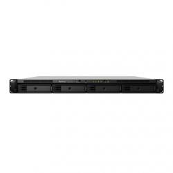 Synology Rack NAS RS1619xs+ up to 4 HDD/SSD Hot-Swap, Intel Xeon D-1527 Quad Core, Processor frequency 2.2 GHz, 8 GB, DDR4, RAID 0,1,5,6,10,Hybrid, 4x1GbE, 2xUSB 3.0, 1xPCIe, 1x Expansion port, Dual Fan, Redundant PSU, 2xM.2 2280 NVMe slots