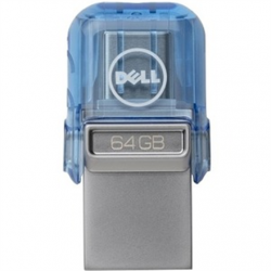Dell USB A/C Combo Flash Drive 128 GB, USB Type-A/USB Type-C, Blue
