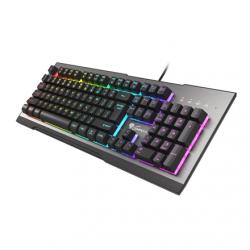 Genesis Rhod 500 Gaming keyboard, RGB LED light, US, Silver/Black, Wired