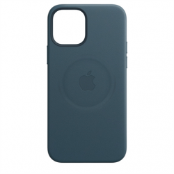Apple iPhone 12/12 Pro Leather Case with MagSafe Baltic Blue