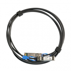 MikroTik 25GBase Direct Attach Cable XS+DA0001 SFP/SFP+/SFP28, Maximum transfer distance 1 m, Supports SFP 1G/SFP+ 10G/25G SFP28, 25 Gbit/s