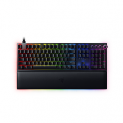 Razer Huntsman V2, Optical Gaming Keyboard, RGB LED light, Russian, Black, Wired