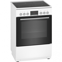 Bosch Cooker HKR39A220U Hob type Electric, Oven type Electric, White, Width 60 cm, Electronic ignition, Grilling, Digital, 66 L, Depth 60 cm