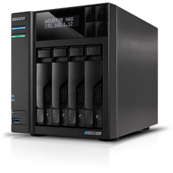 Asus AsusTor 4 Bay NAS AS6604T Up to 4 HDD/SSD, Intel Celeron J4125 Quad-Core, Processor frequency 2.0 GHz, 4 GB, SO-DIMM DDR4, Black