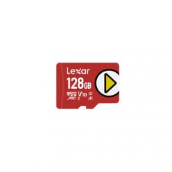 Lexar UHS-I  MicroSDXC, 128 GB, Flash memory class 10, Red, A1, V10, U1, 150 MB/s