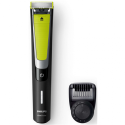 Philips OneBlade Pro Shaver QP6505/21 Wet & Dry Yes, Black/Green, Number of shaver heads/blades 2, Cord or Cordless