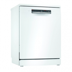 Bosch Dishwasher SMS4HVW33E Free standing, Width 60 cm, Number of place settings 13, Number of programs 6, Energy efficiency class D, Display, AquaStop function, White