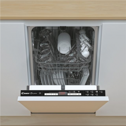 Candy Dishwasher CDIH 2D949 Built-in, Width 44.8 cm, Number of place settings 9, Number of programs 7, Energy efficiency class E, Display, AquaStop function, White