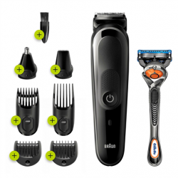 Braun Trimmer 8-in-1 MGK5260 Cordless, Number of length steps 13, Black
