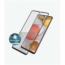 PanzerGlass Samsung, Galaxy A42 5G, Antibacterial glass, Black, Antifingerprint screen protector, Case Friendly, Compatible with the in-screen fingerprint reader