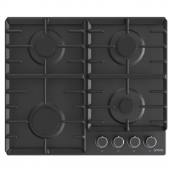 Gorenje Hob G642AB Gas, Number of burners/cooking zones 4, Mechanical, Black