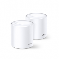 TP-LINK AX3000 Whole Home Mesh Wi-Fi 6 System Deco X60 (2-pack) 802.11ax, 2402+574 Mbit/s, 10/100/1000 Mbit/s, Ethernet LAN (RJ-45) ports 2, Mesh Support Yes, MU-MiMO Yes, Antenna type 4xInternal per Deco uni