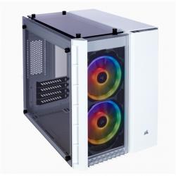 Corsair RGB Computer Case 280X Side window, White, Micro ATX
