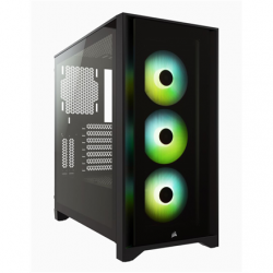 Corsair Tempered Glass Mid-Tower ATX Case iCUE 4000X RGB Side window,  Mid-Tower, Black, Power supply included No, Steel, Tempered Glass, Plastic