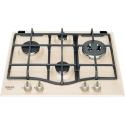 Hotpoint Hob PCN 640T(OW) GH R/HA Gas, Number of burners/cooking zones 4, Mechanical, Beige