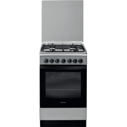 INDESIT Cooker IS5G5PHX/E Hob type  Gas, Oven type Electric, Stainless steel, Width 50 cm, Grilling, 60 L, Depth 60 cm