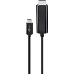 Goobay USB-C to HDMI Adapter cable 51768 1.8 m, Black