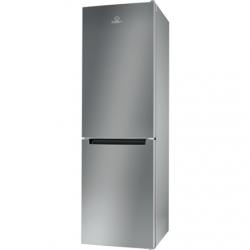 INDESIT Refrigerator LI8 S1E S Energy efficiency class F, Free standing, Combi, Height 188.9 cm, Fridge net capacity 228 L, Freezer net capacity 111 L, 39 dB, Silver